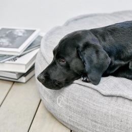Trixi (Dog Bed Macaron Melange Grey)