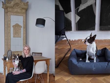 Marie & Bruno, Bruno mit Hundebett Sleepy