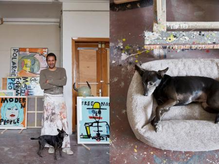 Julian & Molly, Molly mit Hundebett Sleepy Deluxe