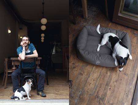 Roberto & Gennaro, Gennaro with Dog Bed Sleepy