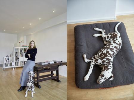 Jutta & Lu, Lu with Dog Bed Dream