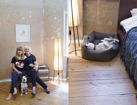 Maria, Katherine & Kiko, Kiko with Dog Bed Sleepy