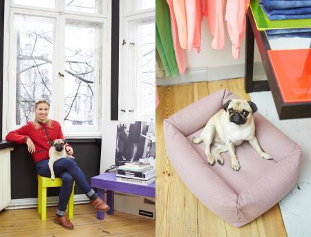 Svenja & Mücke, Mücke with Dog Bed Sleepy Deluxe