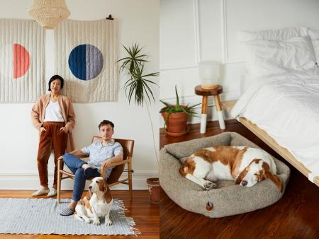 Winnie, Florent & Clementine, Clementine on Dog Bed Sleepy Deluxe