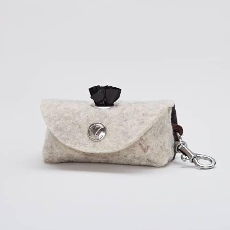 Doggy-Do-Bag Filz mit Karabiner - Silver