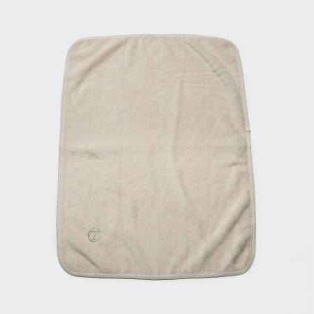 creme coloured dog blanket