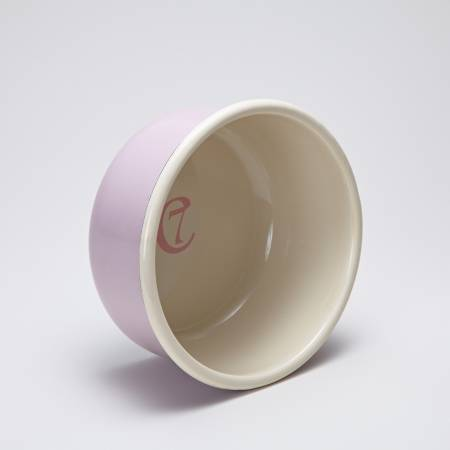 Cloud7 Enamel Dog Bowl Granny Rosé Inside