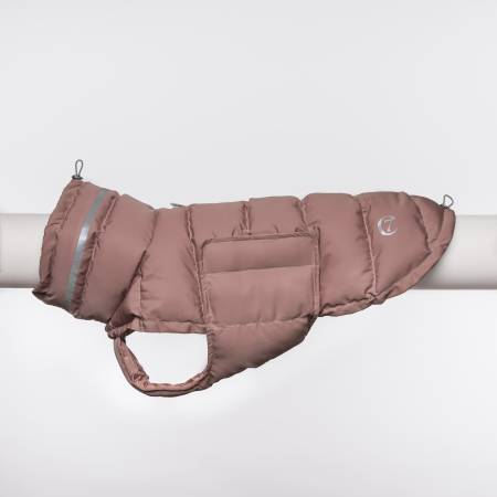 Padded dog coat in dusty rosè