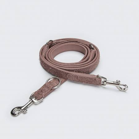 light pink suede leather dog leash