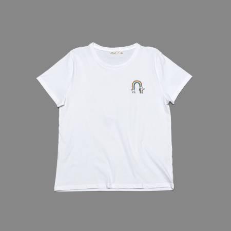 RESC7UE T-Shirt Rainbow White