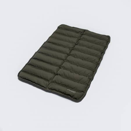 Padded dog mat in dark green