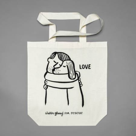 Cotton Tote Bag with silk print for animal welfare