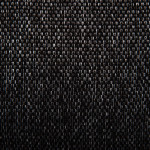 detail shot of black fabric of a dog bed cover