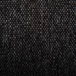 Stoffdetail eines schwarzen Hundebettes