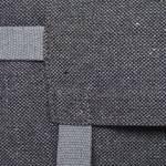 details of a grey dog travel bed