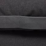 Detailfoto eines dunkelgrauen Hundekissens aus robustem Stoff mit seitlichem Griff für den Außenbereich