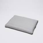 Graues Hundekissen in grauem Tweed-Stoff mit seitlichem Griff