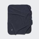 Sehr weiche Fleecedecke für Hunde in Dunkelgrau