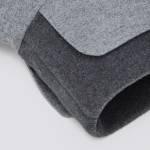 Hundemantel Brooklyn Flanell Gray mit weichem Fleecekragen