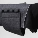 Hundemantel Oxford Anthra mit Klettverschluss