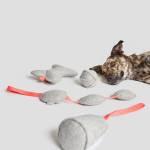 Cloud7 Hundespielzeug Filz Cone mit Quietscher Hund