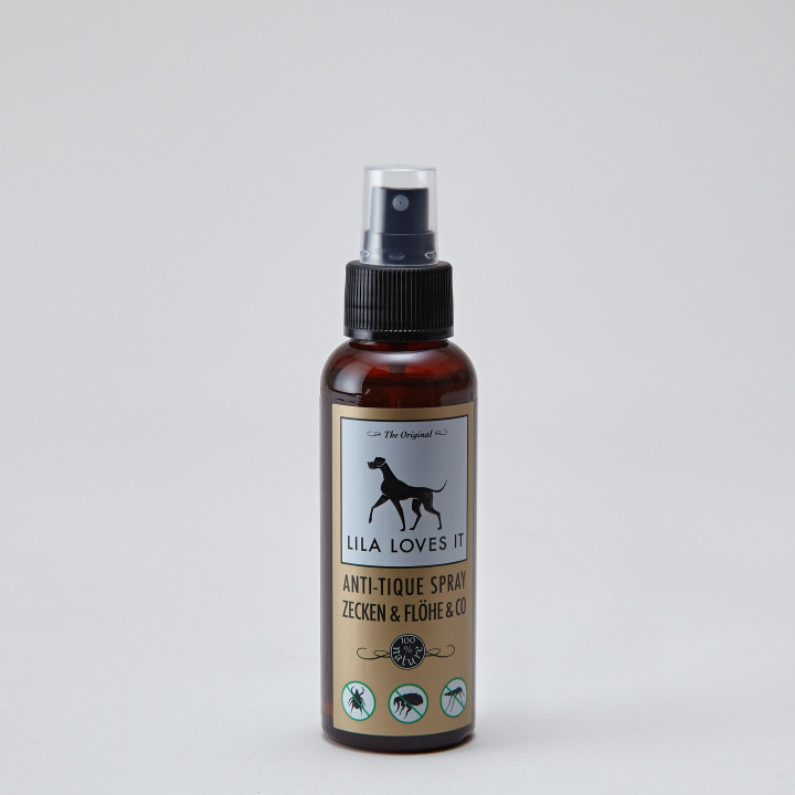 Brown spray bottle with anti flea and tick spray