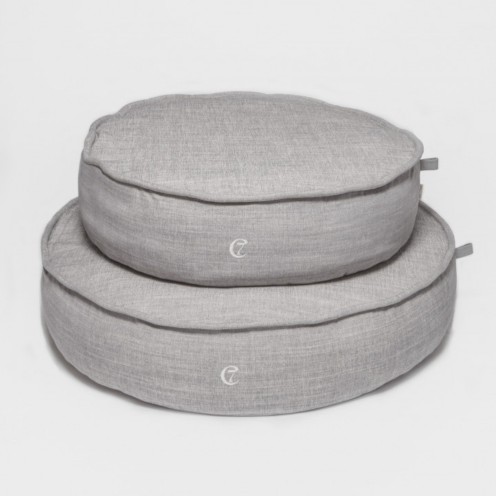 Hundebett Macaron Melange Grey ML