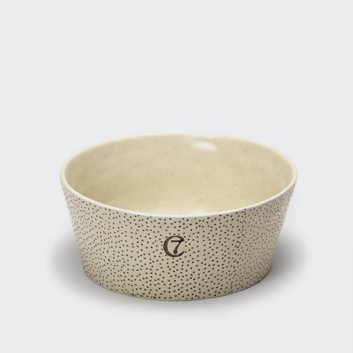 Dog Bowl Yoji Creme / Dots