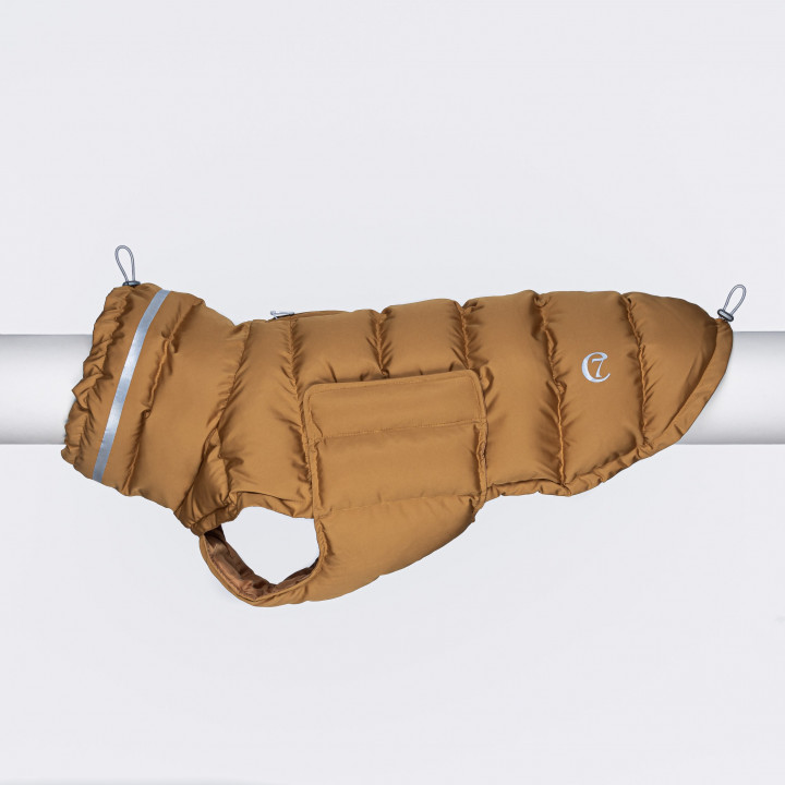 padded dog winter coat with reflective elements