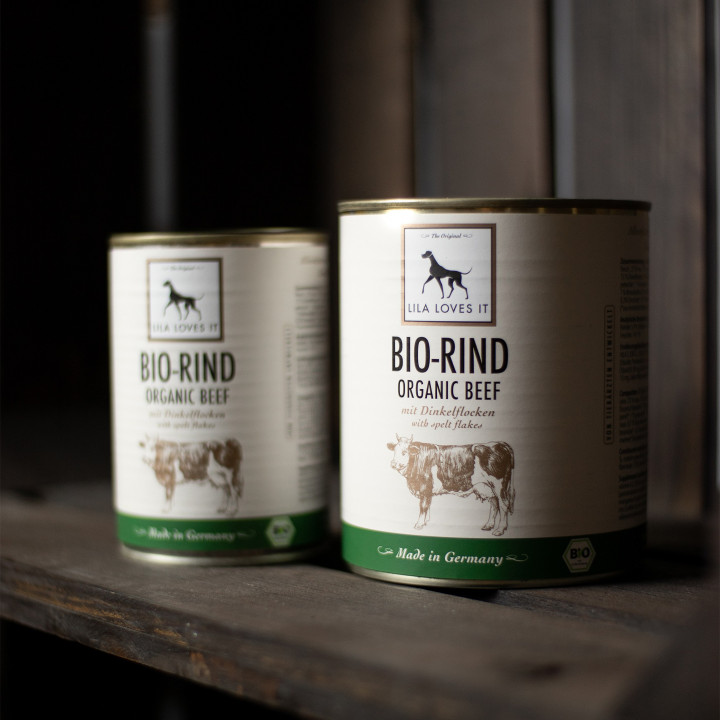 Dog Food Organic Beef with Spelt Flakes