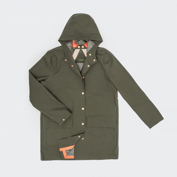 Outdoor Regenmantel London Khaki