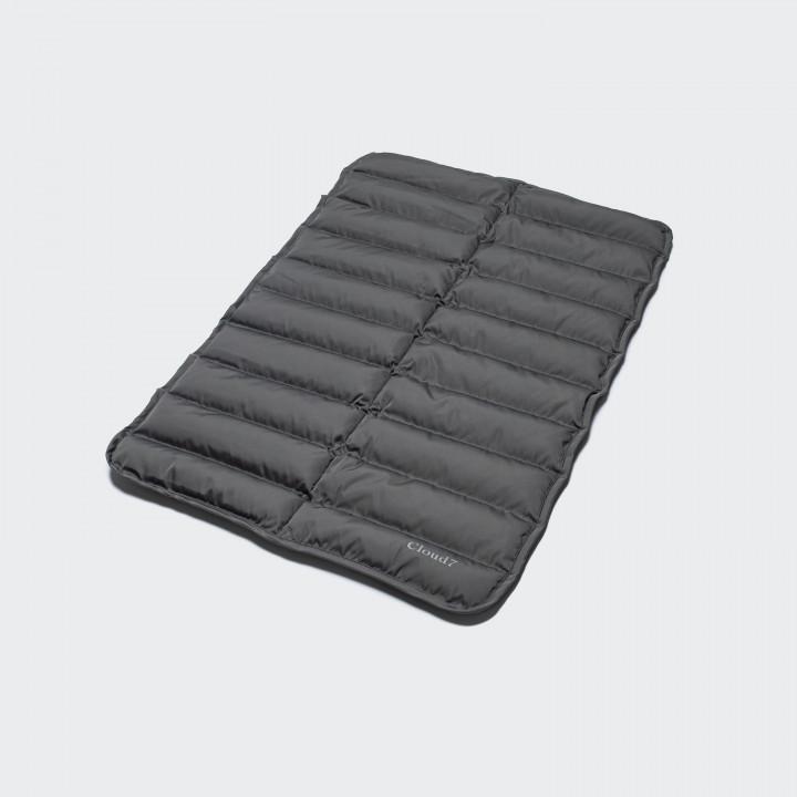 padded grey dog mat