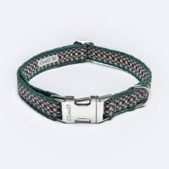 Vegan dog collar webbing ethno-style