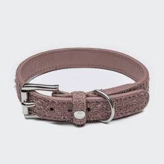 Rosa Wildleder Hundehalsband