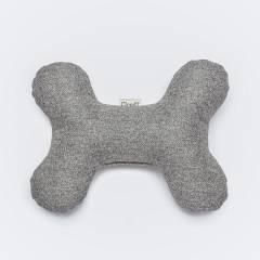 Grauer Hundeknochen aus robustem Stoff