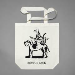 Süße Stofftasche mit Hundemotiv für den Tierschutz