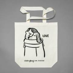 Cotton Tote Bag with silk print for animal welfare