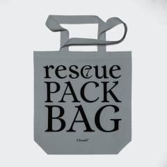 Graue Stofftasche mit Statement Print für den Tierschutz