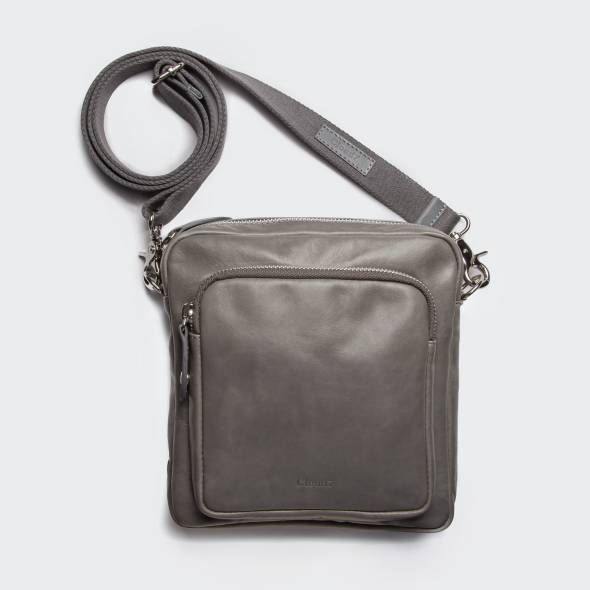 Crossbody Bag Leather Grey
