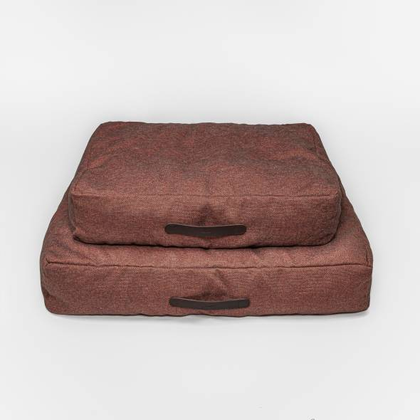 two red dog beds