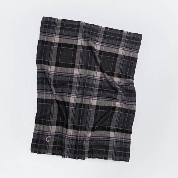checked dog blanket made of Scottish wool