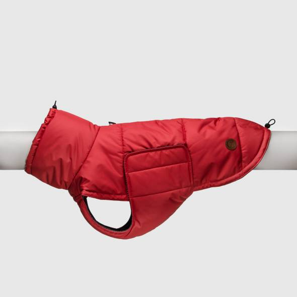 Dog coat ruby red