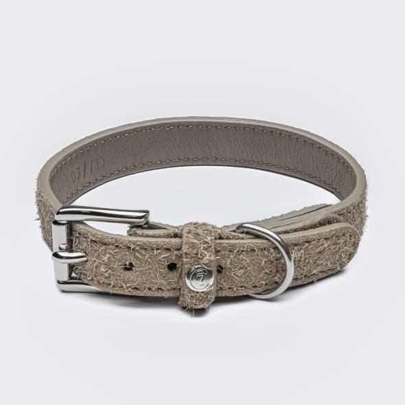 Beige suede dog collar