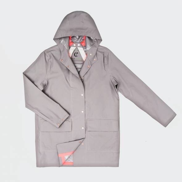 Outdoor Regenmantel London Grey Bekleidung für Hundehalter