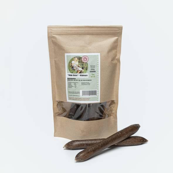 Packung Hunde Leckerli Würstchen Beeren