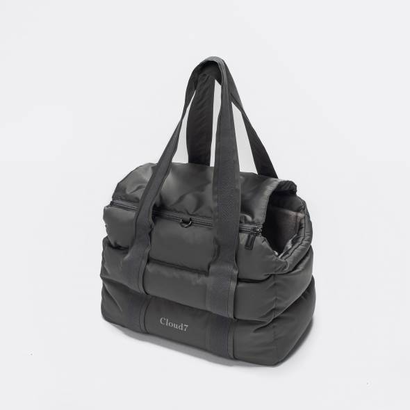 Padded grey dog carrier