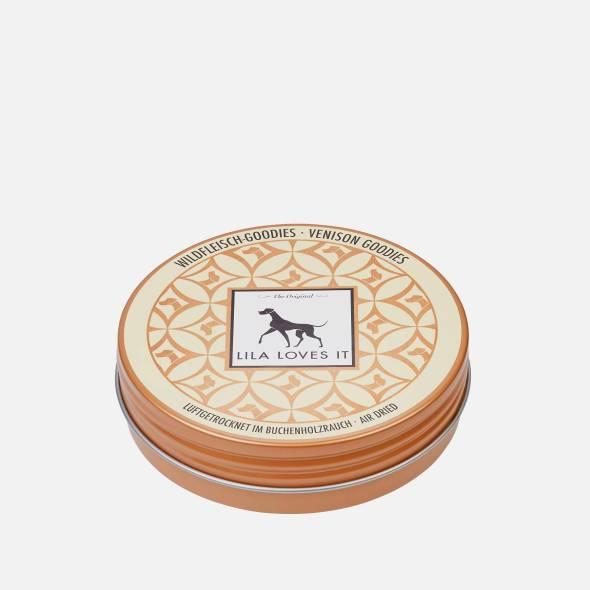 Hübsche gelbe Blechdose für Hundeleckerlis