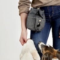 Hundehalter mit Leckerlibeutel