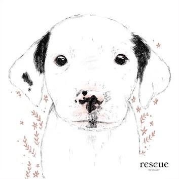 Illustrierter Tierschutzhund