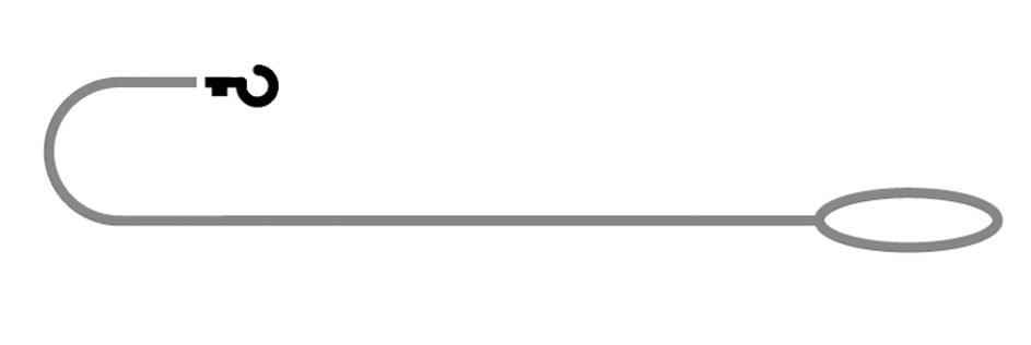 Demonstration der Länge einer Handschlaufenleine